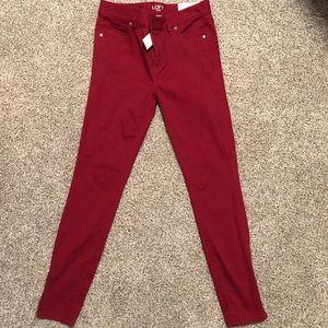 NWT Dark red/maroon Loft Legging size 0